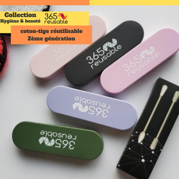 4 cotons tiges réutilisables en silicone EXCLUSIVITE #365R