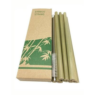 Lot de 12 pailles réutilisables en bambou-365 REUSABLE