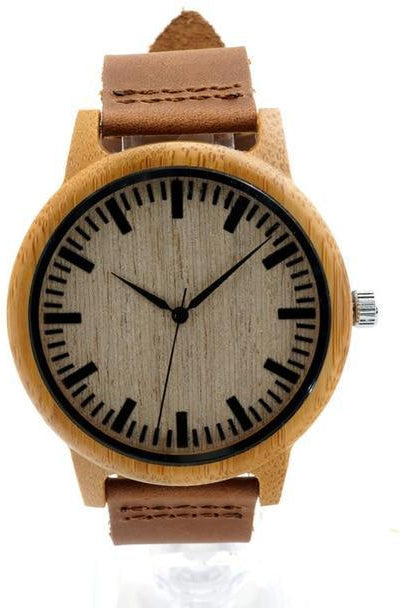 Montre bambou - homme