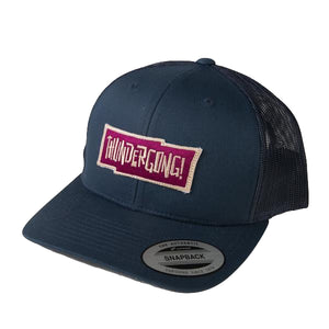 navy trucker cap with red thundergong! logo