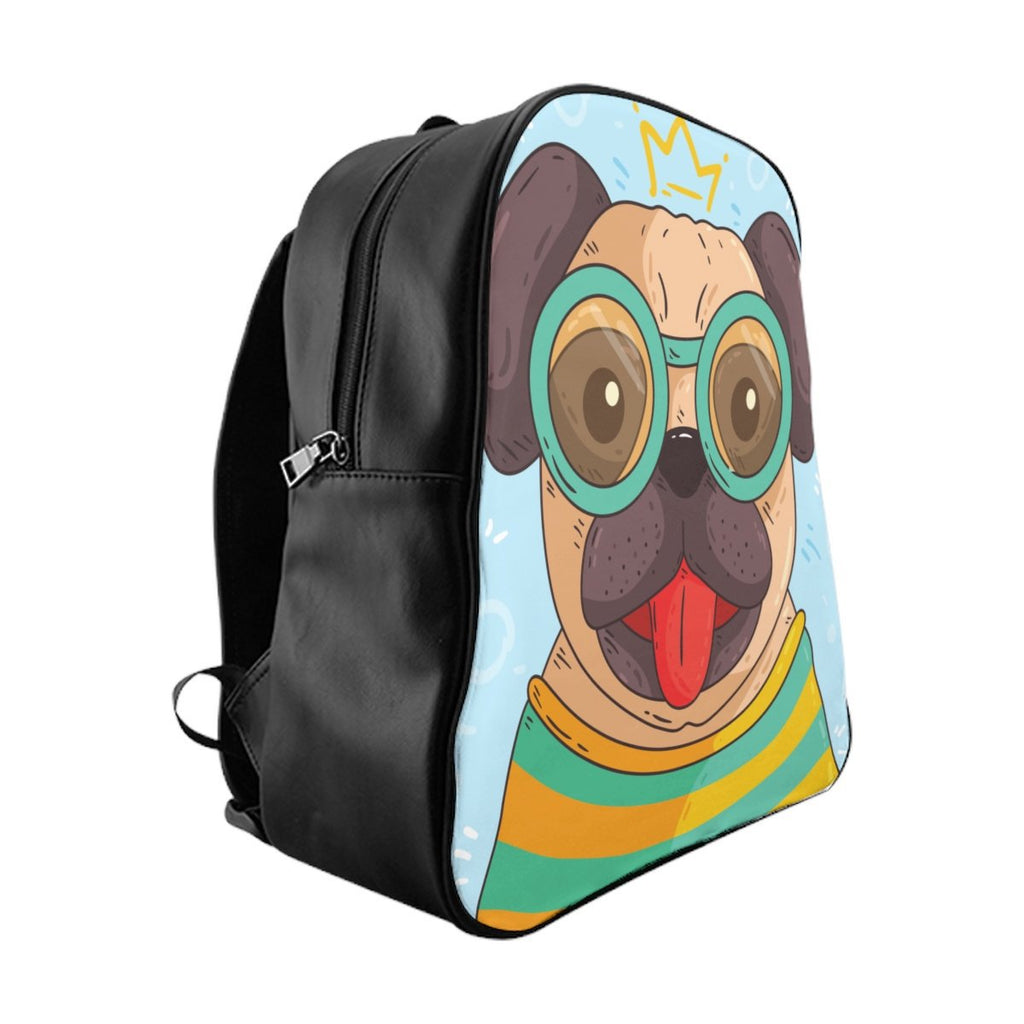 Nerdy Pug School Backpack - Bags - office-posters-and-frames