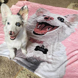 custom pet blanket pink