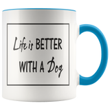 Life is better with a dog - coffee mug - Drinkware - office-posters-and-frames