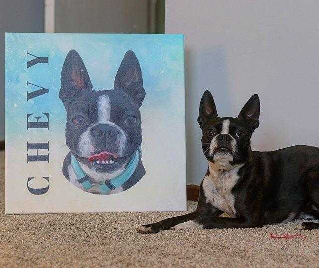 Custom pet canvas - portrait -  - office-posters-and-frames