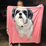 custom pet blanket for dogs