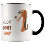 Adopt don't shop - coffee mug - Drinkware - office-posters-and-frames