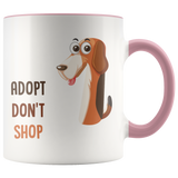 Adopt don't shop - coffee mug