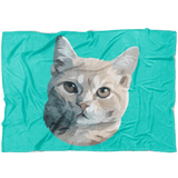 Photo blanket with cat