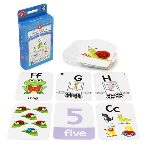 Alphabet and Numbers 1-10 Flash Cards
