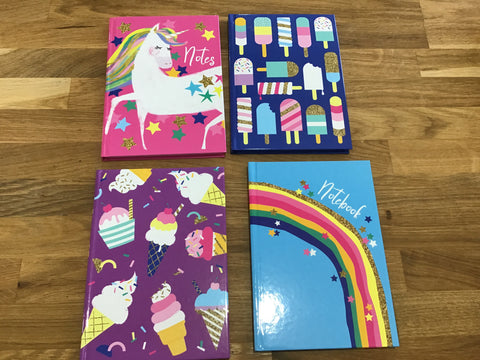 Assorted Hardback Notebooks