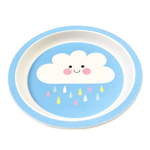 Bamboo Plate - Happy Cloud