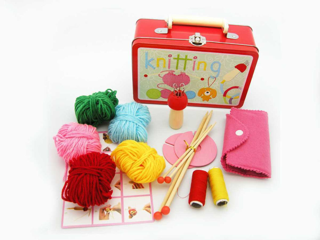 Knitting Kit in Tin Case