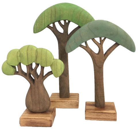 Papoose Wooden African Tree Large