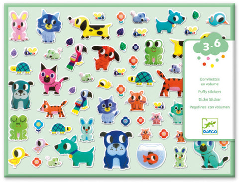 Puffy Stickers - My Little Friends