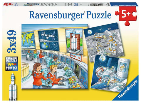Tom & Mia Go On A Space Mission 3x49pc Puzzle