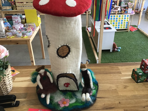 The Whimsical Toadstool Home