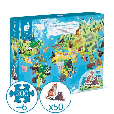 Endangered Animals Puzzle 200pc