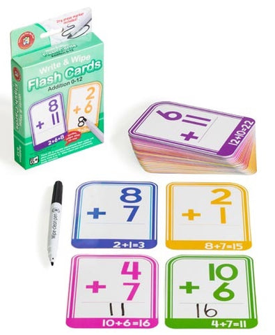 Write & Wipe Flash Cards - Addition 0 to 12
