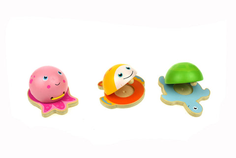 Wooden Castanets Sea Animals