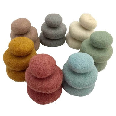 Papoose Toys Earth Felt Pebbles 3pc
