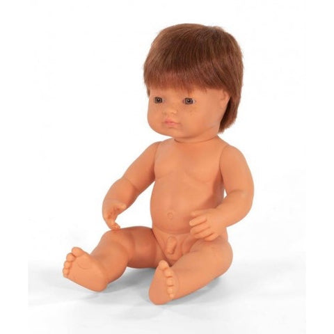 Miniland Caucasian with Red Hair Baby Boy 38cm Doll