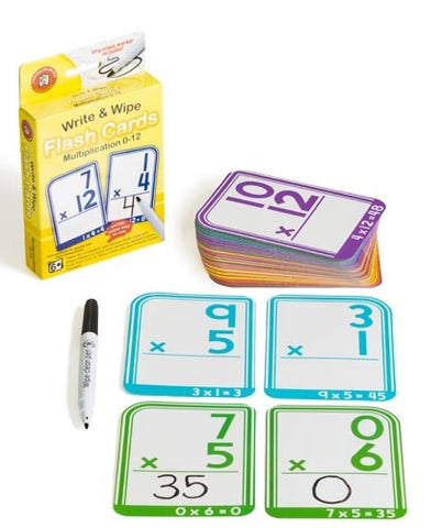 Write & Wipe Flash Cards - Multiplication 0 to 12