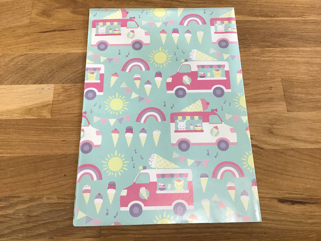 Ice Cream Truck Wrapping Paper