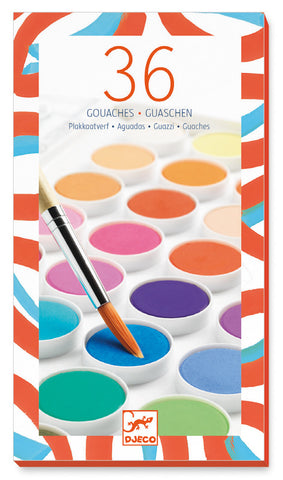 36 Colour Gouache paint pallette