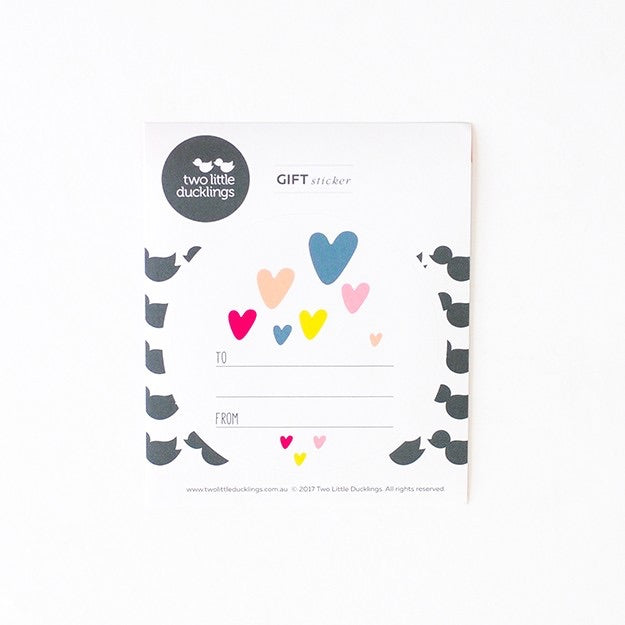 Gift Sticker Hearts