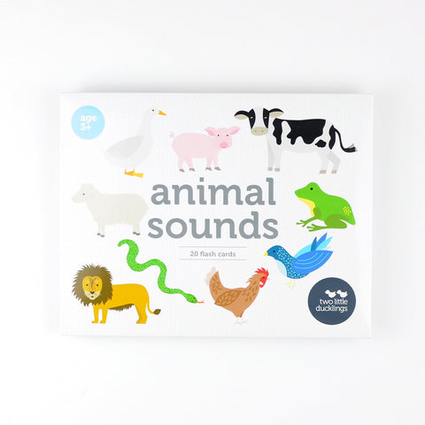 Animal Sounds Flash Cards