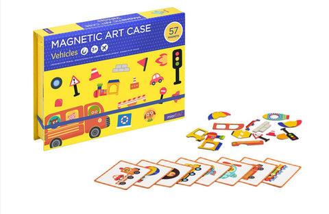 Magnetic Art Case- Vehicles