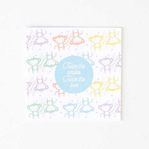 Greeting Card - Twice the Smiles, Twice the Love