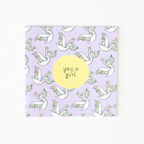 Greeting Card - Yay A Girl