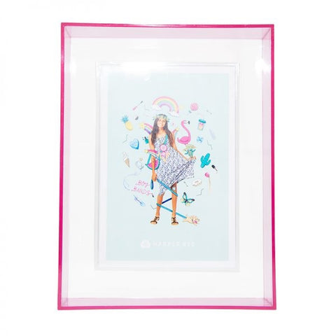 Plastic Neon Photo Frame Pink