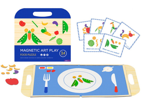 Magnetic Play Set- Food Puzzle