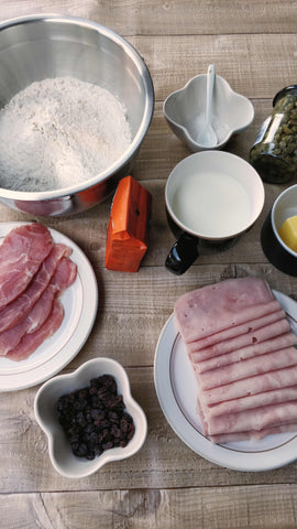 Ham bread ingredients