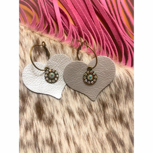 Heart Leather Earrings - Rockin' Sass Boutique