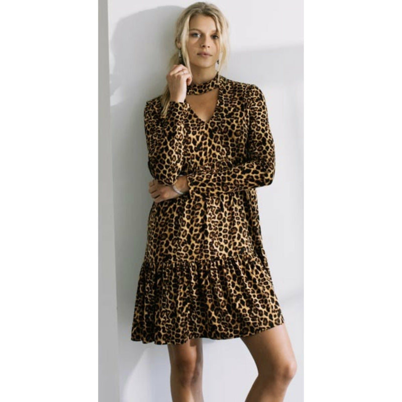 Leopard Keyhole Dress