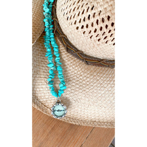 Turquoise Stone Believe Necklace