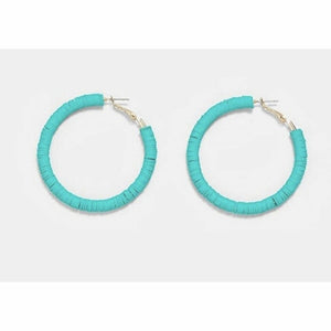 Mint Neon Colored Hoops - Rockin' Sass Boutique