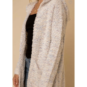 Multi Color Nubby Sweater Cardi