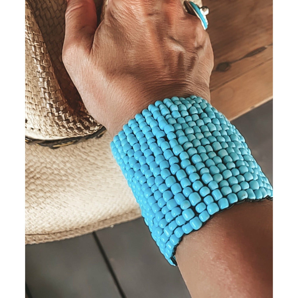 Turquoise Beaded Cuff