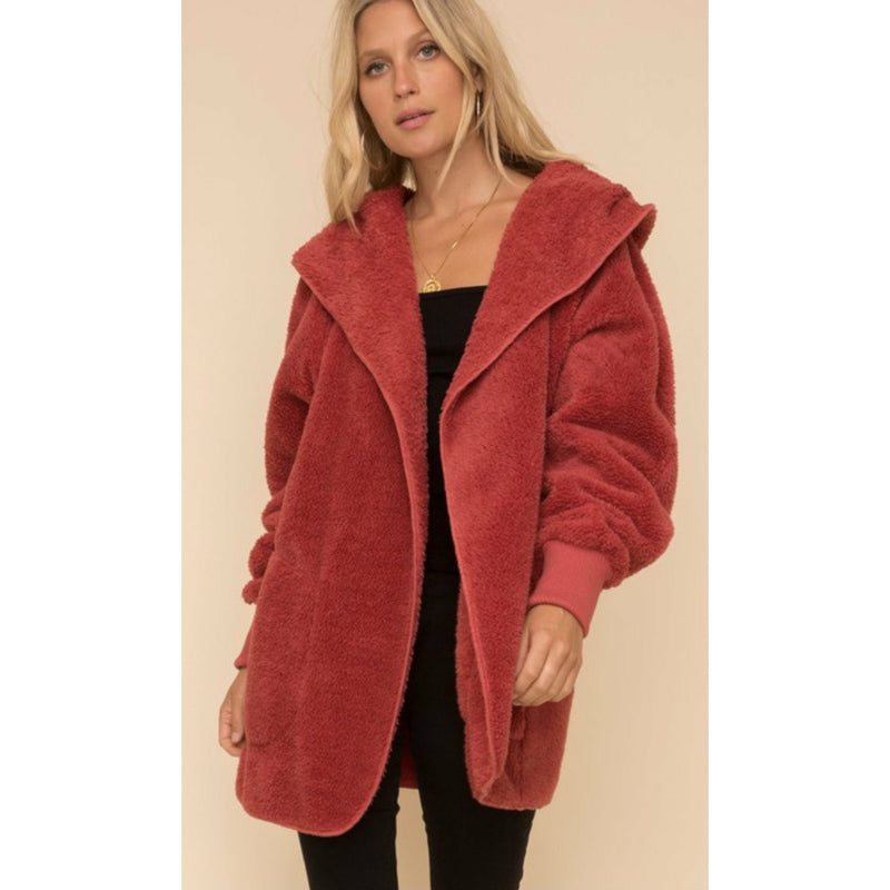 Fur Plush Hooded Jacket