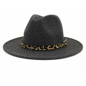 Panama Leopard Band Trendy Hat