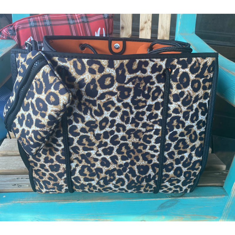 Leopard Neoprene Bag