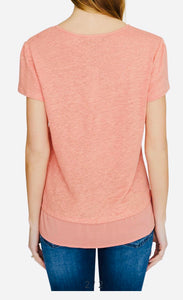 Sanctuary tiered linen tee