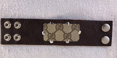 Gucci cuff with rivets