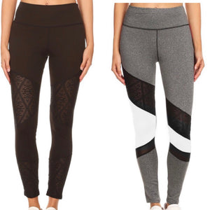 Lace cut out workout pants