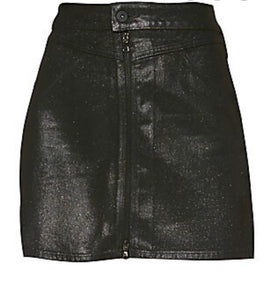 Paige Jamine  zip front Coated sparkle skirt