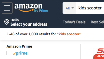 Amazon Results Kids Scooter